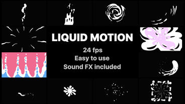 Liquid Motion Elements After Effects Template