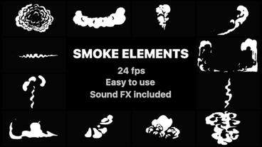 Cartoon Smoke Elements After Effects Template
