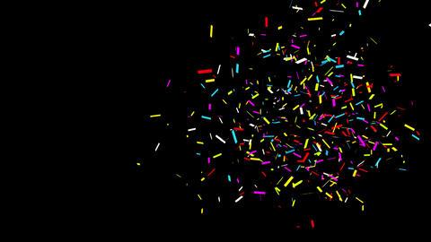 22 Bottom Right Rectangle line Realistic colored Confetti Popper Explosions Animation