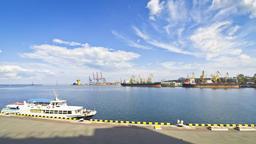 Industrial view of Odesa seaport, Ukraine ビデオ