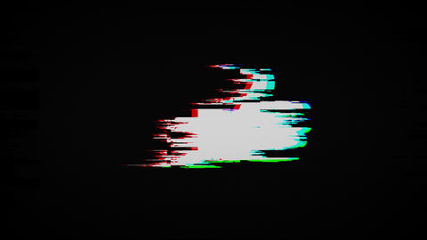 like hand on old tv screen Animation