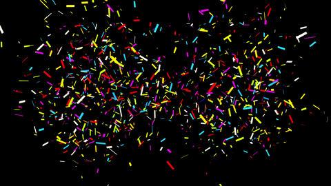 28 Bottom Left Right Square line Realistic colored Confetti Popper Explosions