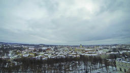 Panoramic view of Vilnius city, Lithuania Footage