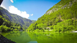 Sava Bohinjka river, Julian Alps, Slovenia Footage