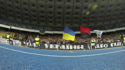 FC Dynamo Kyiv Ultra supporters show their support Footage