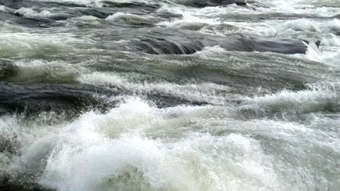 Dangerous river rapids for rafting in Scandinavia Footage