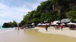 Padang Padang Beach in sunny day.Bali Footage