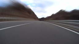 Highway Driving low angle view Time-lapse / ローアングル倍速車載動画 Footage