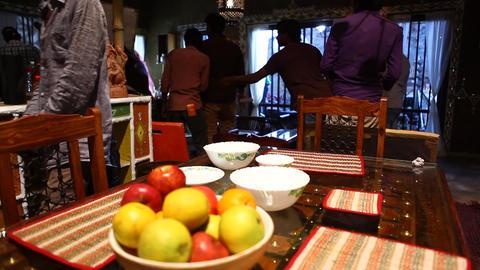 Interior of Holiday Resort Footage
