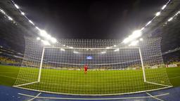 UEFA Europa League game between FC Dynamo Kyiv and Rapid Wien Footage
