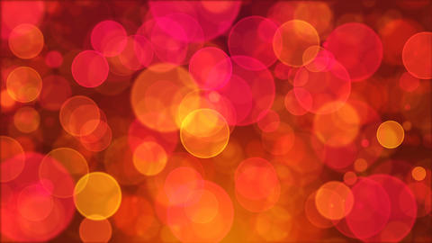 Pink Orange Circle Bokeh Background Loop CG動画素材
