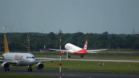 Airbus A320 of Air Berlin airlines take off Footage