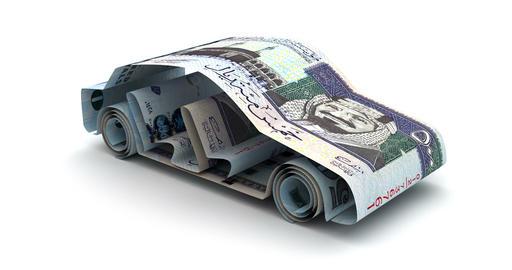 Car Finance with Saudi Arabian Riyals Animation