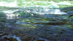 Rapids of mountain river show power water in Patagonia Argentina Footage