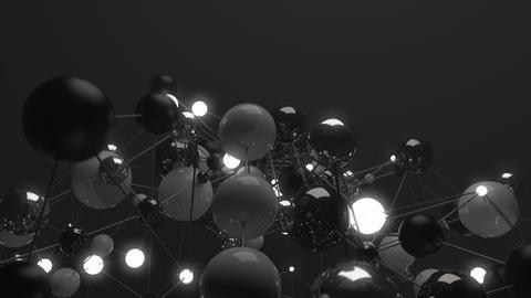 Abstract Spheres in a Molecular Network Footage