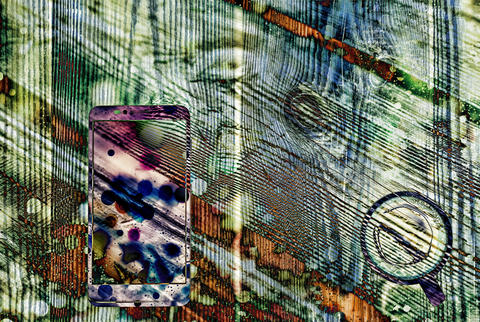 Watercolor, Image, prints, smartphone, coffee cup, Abstraction フォト