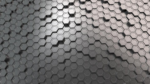 Wall of metal hexagons Animation