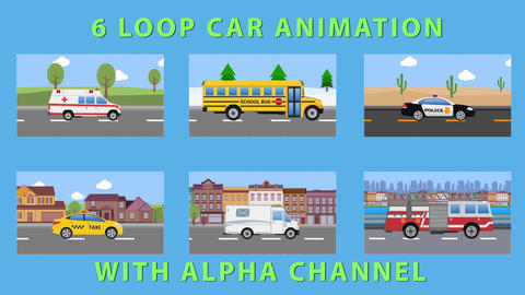 Cartoon Car Pack CG動画素材