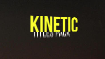 Kinetic titles pack Premiere Pro Template