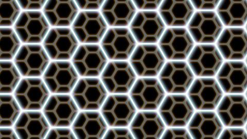 Hexagon patterns CG動画素材