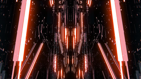 VJ 3D Techno Space Stock Video Footage