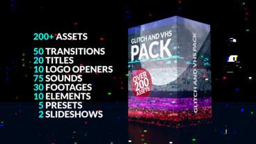 200+ Glitch Pack Premiere Proテンプレート