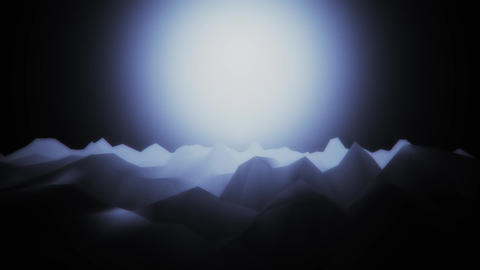 3D Low Poly Mountains at Night Loopable Background Forward Motion CG動画