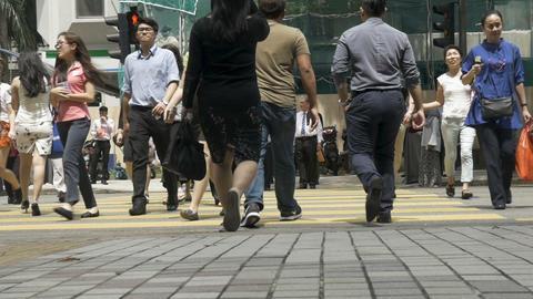 KUALA LUMPUR, MALAYSIA - CIRCA FEBRUARY 2018 - Slow motion of Asian people Footage