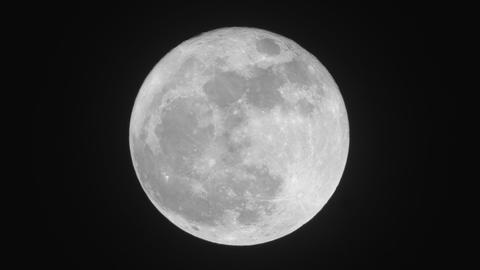 2017 Super Moon moments after moonrise Footage