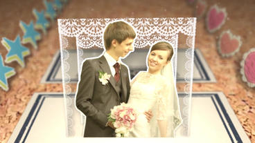 book and origami Wedding project After Effects Template