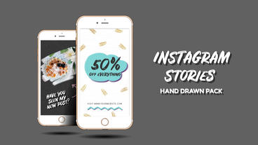 Instagram Stories. Hand Drawn Pack Plantilla de After Effects