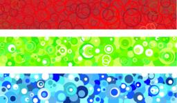 Three banners with circles Vector