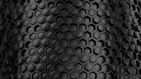 Background of Hexagons Animation