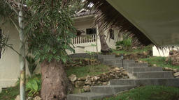 House of green Pacific coast in Philippines Footage