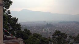 View from above. on Kathmandu in Nepal .Zoom in Footage