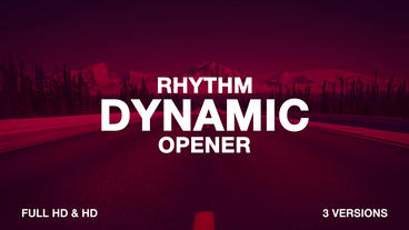 Rhythm Dynamic Opener After Effectsテンプレート