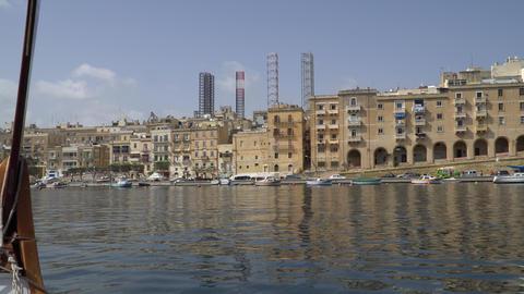 VALLETTA - MALTA, April, 2018: View of the Mediterranean Sea,Valletta and the GIF