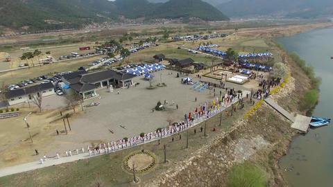 Gayajin Yongsinje Dragon god ritual in yangsan 04 Footage