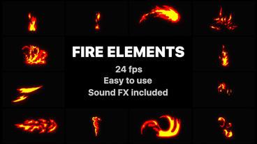 Flash FX Fire Elemens Premiere Pro Template