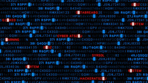 You Have Been Hacked - Code Animation - Blue - 3D Transparent Background Animation