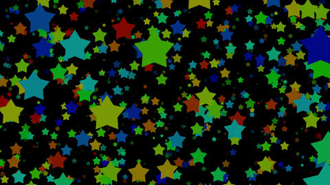 Cartoon Stars On Black Background Animation