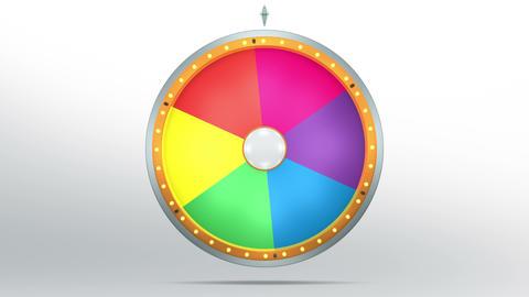 Wheel fortune 6 area 4K Animation