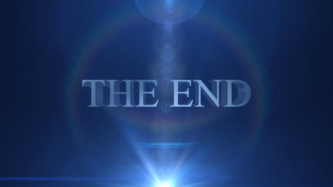 The end title Animation