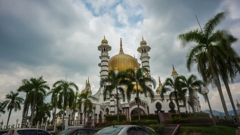 Clouds Time Lapse Ubudiah Mosque Footage