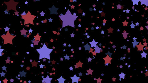 Purple And Red Cartoon Stars On Black Background Animation