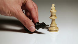 Chess Pieces: Black King Falls, White King Stands Live Action