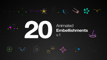 Animated Embellishments After Effects Template