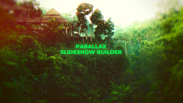 Parallax Slideshow Builder Plantilla de Apple Motion