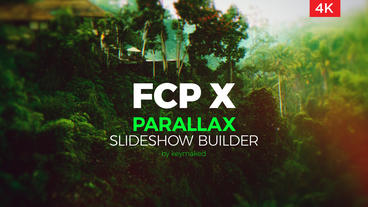 Parallax Slideshow Builder Final Cut Pro / Motion Templates