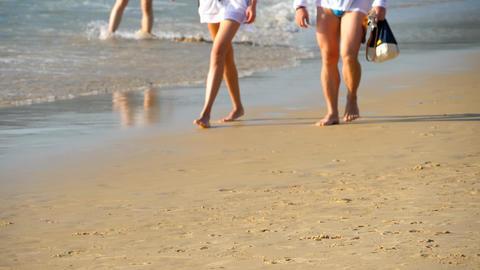 Couple Beach walking Image